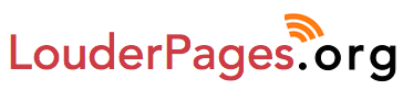 LouderPages.org Logo